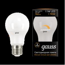 Лампа Gauss LED A60-dim E27 11W 960lm 3000К