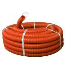 Труба гофрированная  ПНД 16мм с зондом (оранжевая)