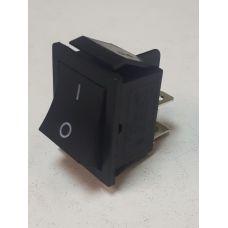Выключатель клавишный 250V 15А (4с) ON-OFF черный 36-2310