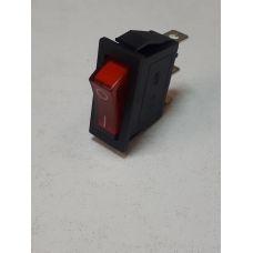 Выключатель клавишный 250V 15А (3с) ON-OFF красный с подсветкой 36-2210