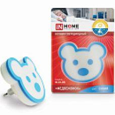 Ночник светодиодный NL03-BB Медвежонок 230В синий IN HOME