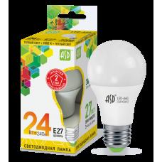LED-A60-standard 24Вт 230В Е27 3000К 2160Лм