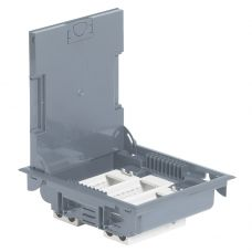 Legrand напольная коробка с глубиной 75-105 мм неукомплектованная 12 модулей под покрытие серый RAL 7031