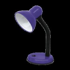 Светильник настольный под лампу СНО-02Ф на основании 60Вт E27 фиолетовЫЙ (мягкая упаковка) IN HOME