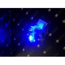 """187193 Светодиодная гирлянда """"Сетка"""" Ш01хВ0.7 (8 режимов 96 ламп) нить темная (Синий цвет)"""