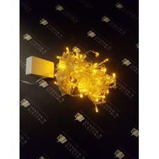"""1080434 Гирлянда """"Бахрома"""" Арка, Ш:1 м, В:1 м, нить силикон, LED-126-220V, контр. 8 р. ЖЕЛТЫЙ"""