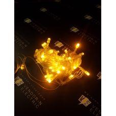 """1080343 Гирлянда """"Метраж"""" 5.2 м, нить силикон, LED-50-220V, контр. 8 р. ЖЕЛТЫЙ"""