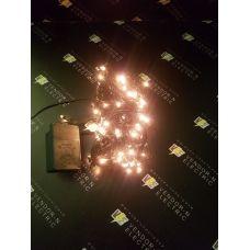 """671013 Гирлянда """"Метраж"""" 9 м, нить темная, 240 ламп, 220V, контроллер 8 режимов, БЕЛЫЙ"""