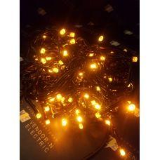 "187265 Гирлянда ""Бахрома"" улич. Ш:2 м, В:0,6 м, нить темная, LED-120-220V, контр. 8 р. ЖЕЛТЫЙ"