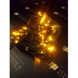"""187213 """"Сетка"""" Ш:1 м, В:0,9 м, нить темная, LED-120-220V, контр. 8 р, ЖЕЛТЫЙ"""