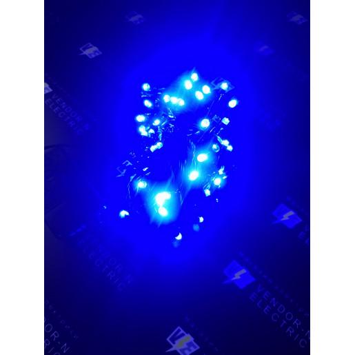 """705551 Гирлянда """"Метраж"""" 9 м, нить темная, LED-100-220V, контроллер 8 режимов, СИНИЙ"""