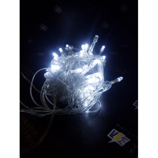 """705980 Гирлянда """"Метраж"""" 9 м, нить силикон, LED-100-220V, контроллер 8 режимов, БЕЛЫЙ"""