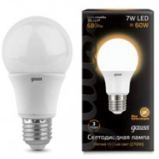 Лампа Gauss LED A60 E27 7W 680lm 3000K