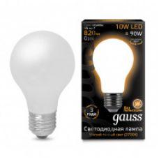 Лампа Gauss LED Filament A60 OPAL E27 10W 820lm 2700К