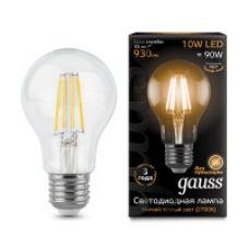 Лампа Gauss LED Filament A60 E27 10W 930lm