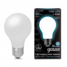 Лампа Gauss LED Filament A60 OPAL E27 10W 860lm 4100К