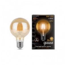 Лампа Gauss LED Filament G95 E27 6W Golden 550lm 2400K