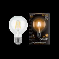 Лампа Gauss LED Filament G95 E27 6W 630lm 2700K
