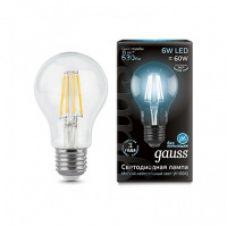 Лампа Gauss LED Filament A60 E27 6W 630lm
