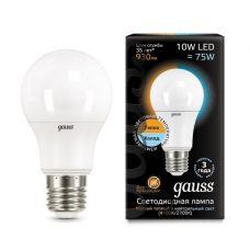 Лампа Gauss LED A60 10W E27 930lm 2700K/4100K CTC