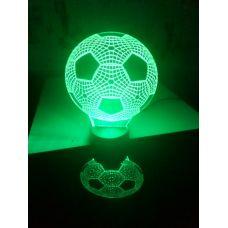 Светодиодный светильник ночник 3D Футбольный мяч
