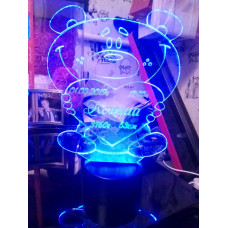 Светодиодный светильник ночник 3D медведь