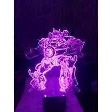 Светодиодный светильник ночник 3D трансформер автобот
