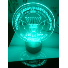 Светодиодный светильник ночник 3D ВДВ