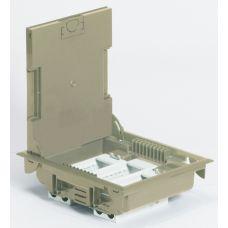 Legrand напольная коробка с глубиной 75-105 мм неукомплектованная 12 модулей под покрытие бежевый RAL 1019