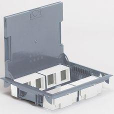 Напольная коробка вертикальная 16 модулей крышка под покрытие