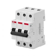 Автоматический выключатель ABB 3P, 63A, C, 4,5кА, BMS413C63