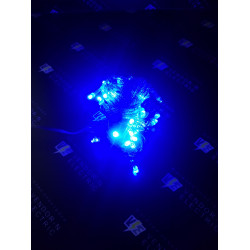 """671029 Гирлянда """"Метраж"""" 5.2 м, нить силикон, LED-50-220V, контроллер 8 режимов, СИНИЙ"""