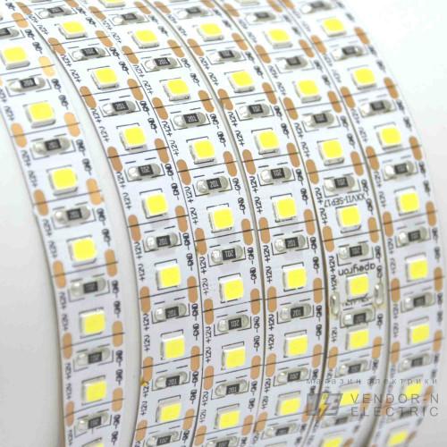 00-103 Светодиодная лента, 12В, 16,6Вт/м, smd2835, 100д/м, IP20, 1500Лм/м, Резка/1 Диод, ширина подложки 10мм, 5м, теплый белый