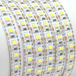 00-102 Светодиодная лента, 12В, 16,6Вт/м, smd2835, 100д/м, IP20, 1500Лм/м, Резка/1 Диод, ширина подложки 10мм, 5м, холодный белый