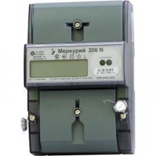 Электросчетчик Меркурий 206 N 230В; 5(60) А; кл. т. 1,0/2; Мн. т.; Оптопрот; ЖКИ; DIN
