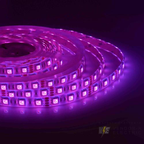 00-12 Светодиодная лента, 12В, 14,4Вт/м, smd5050, 60д/м, IP65, ширина подложки 10мм, 5м, RGB