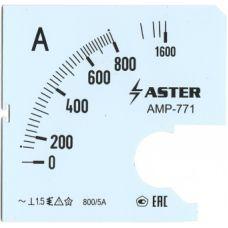 Шкала к амперметру AMP-771 800/5 А