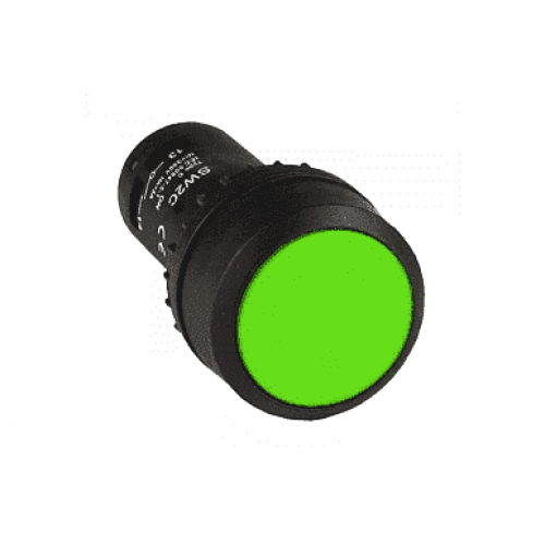 Кнопка SW2C-11 d22мм зеленая цилиндр 1НО+1НЗ ЭНЕРГИЯ