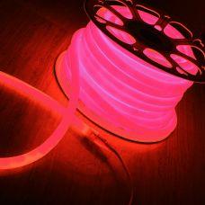 Гибкий неон круглый 120LED/m 14*14mm SMD2835 розовый (50м)