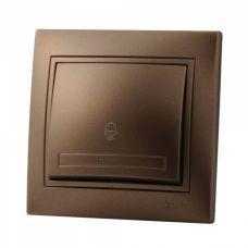 Lezard MIRA кнопка звонка Светло-коричневый металлик