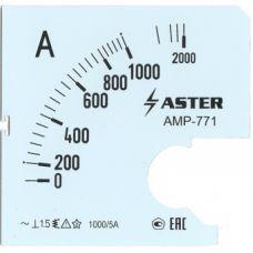 Шкала к амперметру AMP-771 1000/5 А
