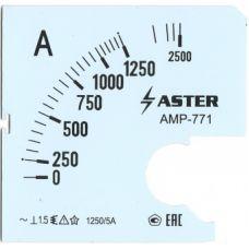 Шкала к амперметру AMP-771 1250/5 А