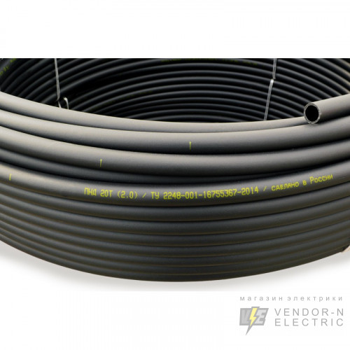 Труба жесткая гладкая ПНД 25с/2,0мм (диаметр бухты 0,90м)