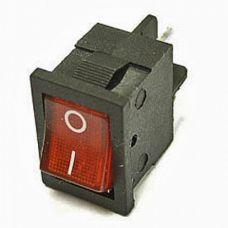 Клавишный переключатель YL211-02 2 положения черный/красная с подсв. 230В 1НО (100шт/упак) ЭНЕРГИЯ