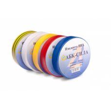 АБК-СИЛА Изолента ПВХ 0,13х15х10м желтая
