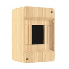 QUEL Щит навесной 2-4 мод. без дверцы, сосна, УПМ, IP40