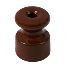 МЕЗОНИН Изолятор коричневый фарфоровый