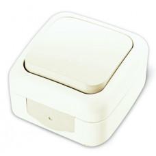 Vi-ko Palmiye кнопка звонка IP54 открытая установка белая