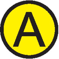 """АБК-СИЛА Символ """"A"""" d=20мм"""