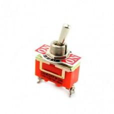 Выключатель-тумблер 1122 вкл-откл-вкл 1 группа контактов (25шт/упак) ЭНЕРГИЯ